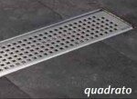 TOP SHOWERLINE Grille  QUADRATO  700mm ACO DOUCHE  - INOX DESIGN